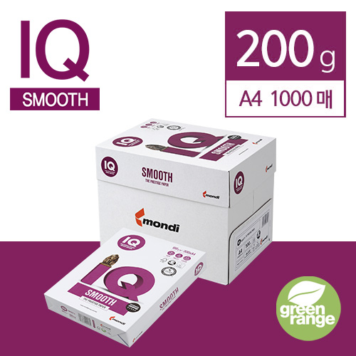 IQ Smooth 200g A4 1000매